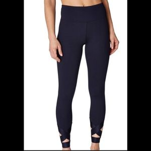 Betsey  Banded Cutout Ankle Yoga Legging XS Navy